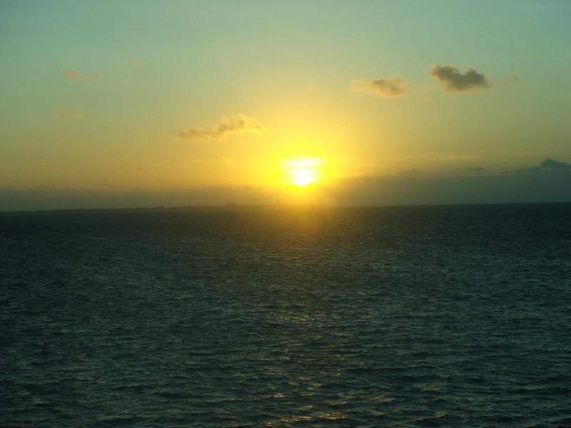 Sunset over the Carib