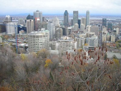 Vue du centre-ville de Mont-Royal