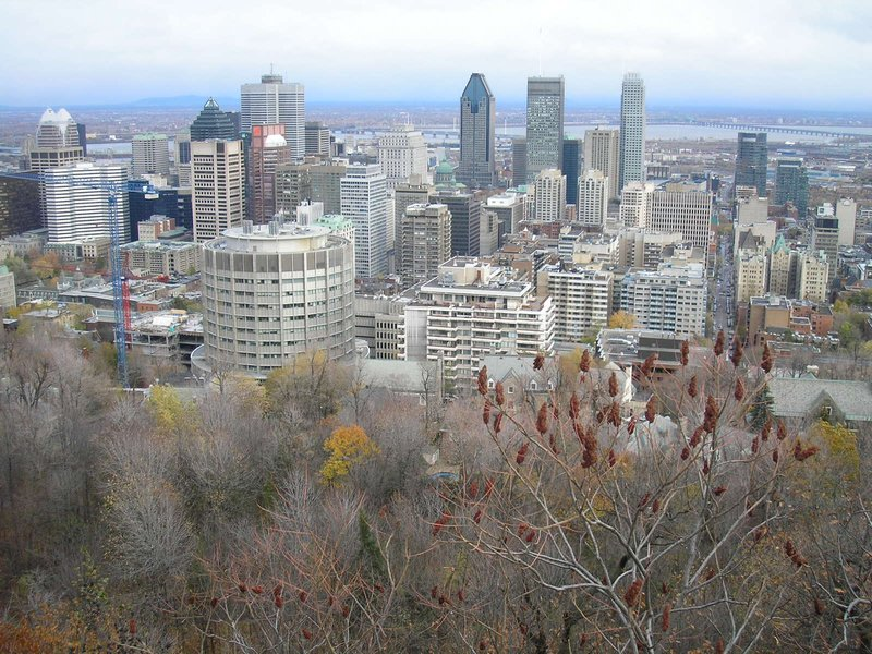 Vue du centre-ville de Mont-Royal