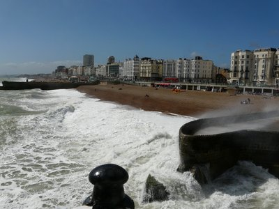 Brighton on a windy day
