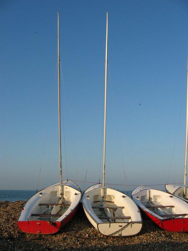 Stranded boats