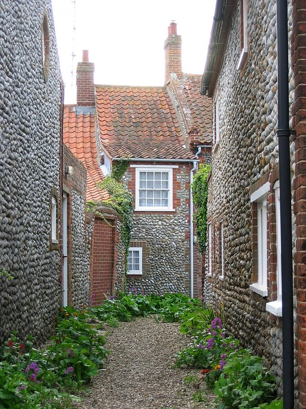 Stone cottages in Blakeney