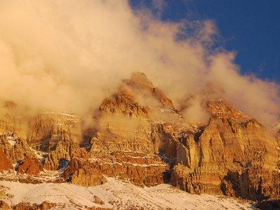 2008-02-10 Les sommets au soleil couchant