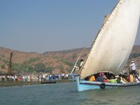 Traditional ferry, Murud-Janjira, India