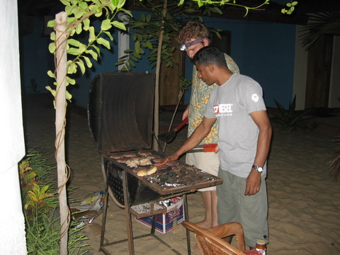 Dan & Razak manning the grill
