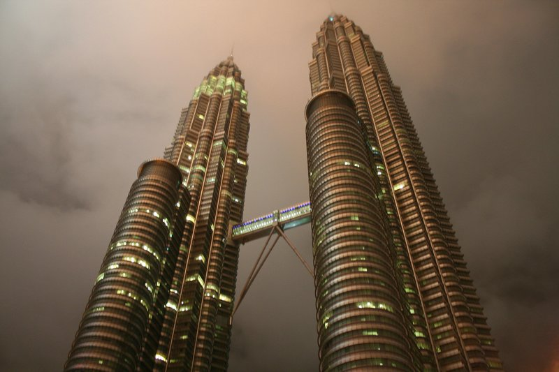 The Petronas Twin Towers @ night