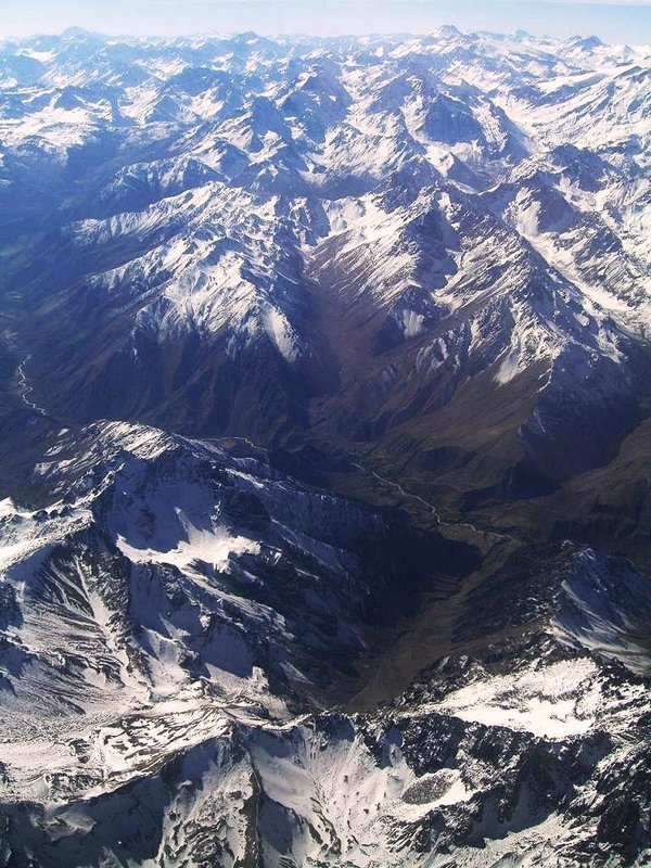 The Andes from the air