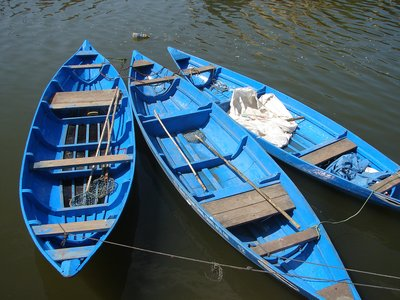 Boats on the river at Hoi An