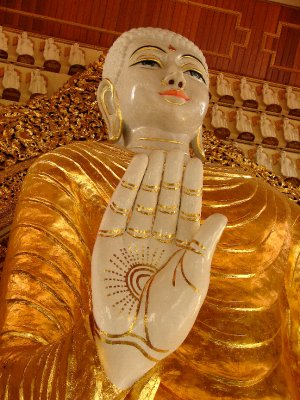 Buddha at the Burmese temple