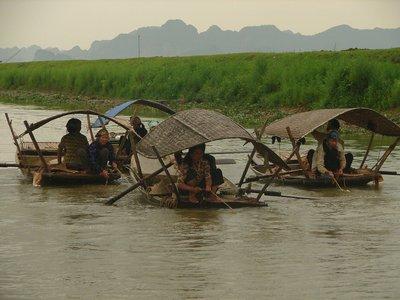 Fishing boats at Kênh Gà