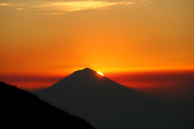 Sunset over Gunung Agung, Bali
