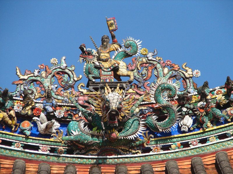 Roof of the Khoo kongsi, George Town