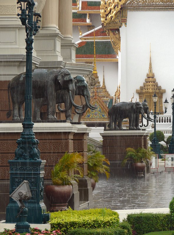 Downpour at the Royal Palace