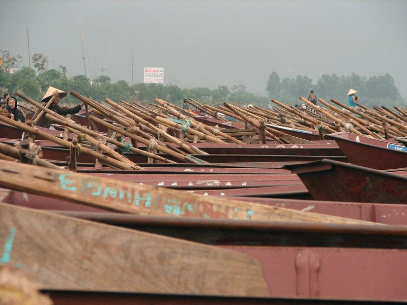 Thousands of boats at Ben Duc