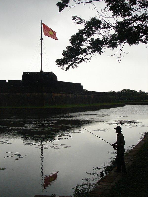 Fisherman at Huế Citadel