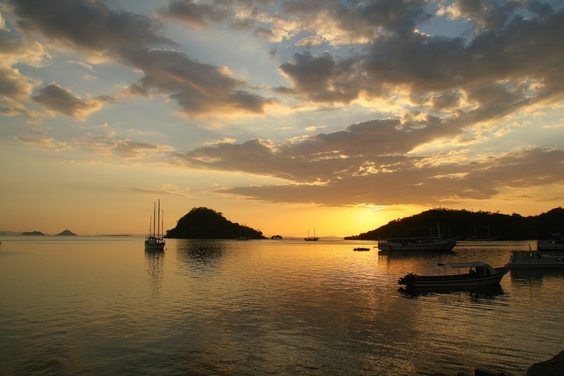 Labuanbajo at sunset