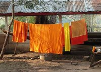 Monks' laundry at Xieng Thong