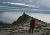 Me in front of South Peak, Kinabalu