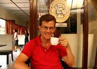 Drinking civet coffee in Yogyakarta