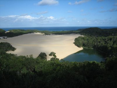 Fraser Island: Lake Wabby from Lookout