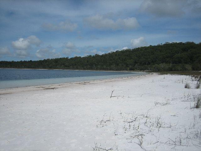 Fraser Island: Lake Birrabeen empty