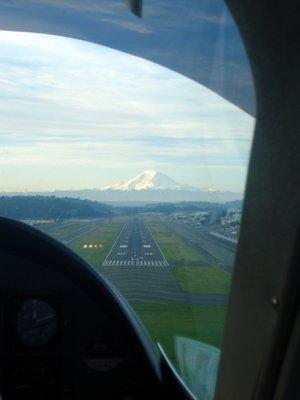 Landing in Seattle