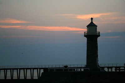 Whitby Lighthouse at dawn