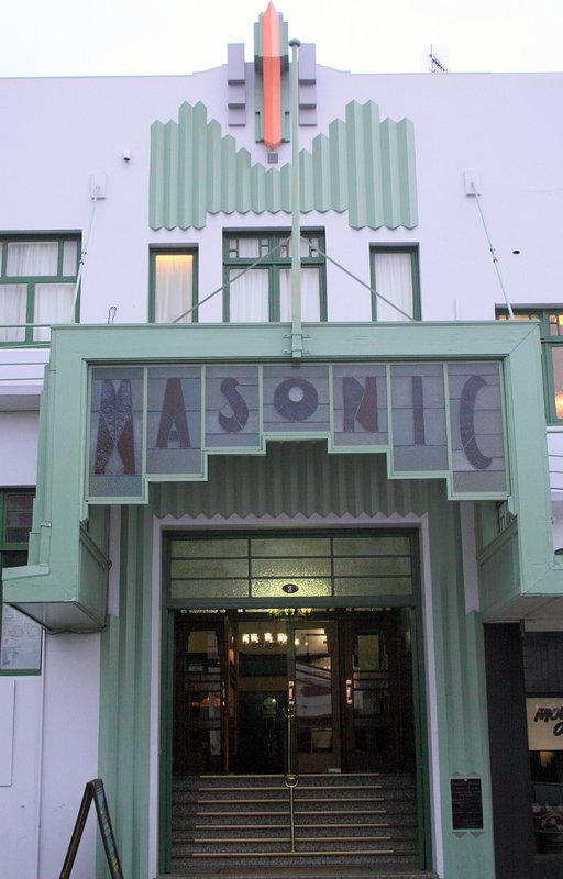Typical Art Deco building in Napier