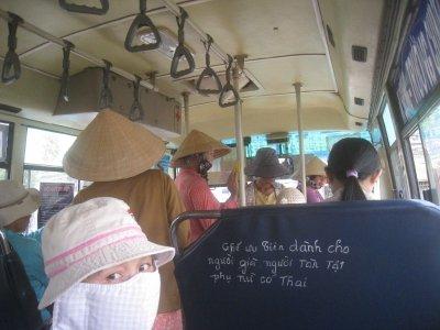 riding the local bus Siagon