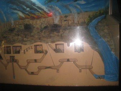diarama of Tunnels at Cu Chi