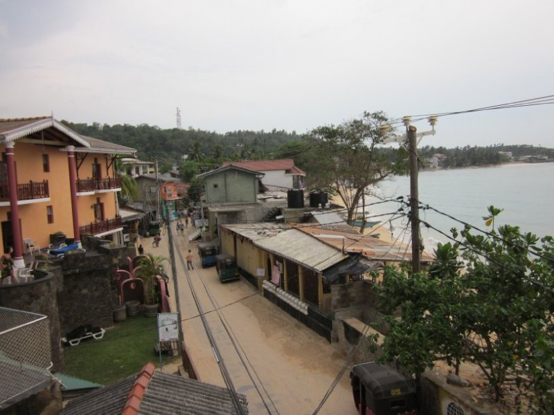 Veiw of bay over Unawatuna
