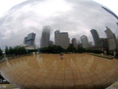 A rainy day in Chicago