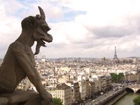 Gargoyle on guard over Paris