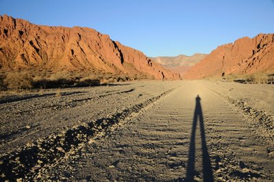 Shadow near Tupiza