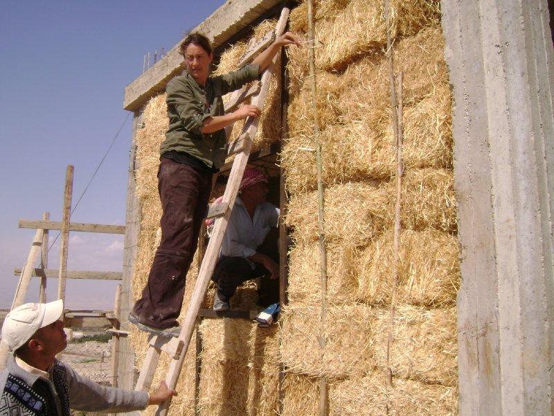 Sasha up a ladder