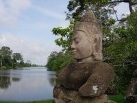 On the way to Angkor Thom