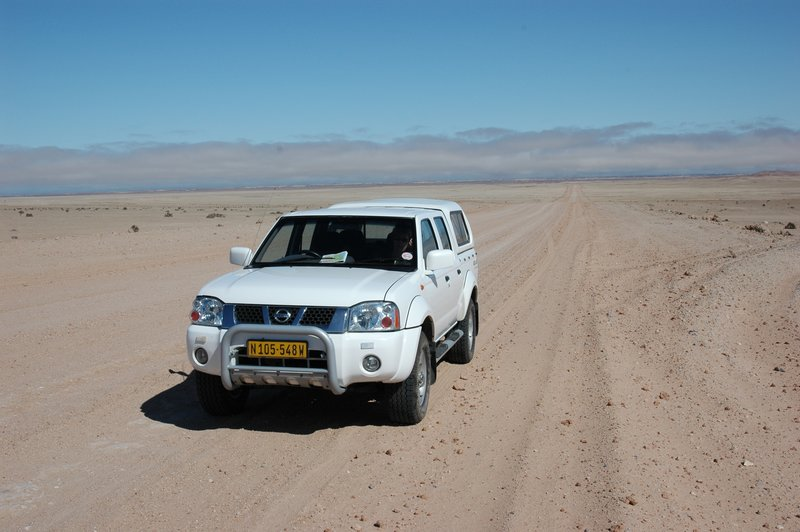 Heading for the Namib desert
