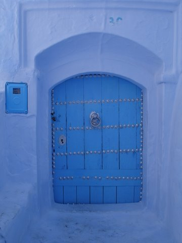 DOORWAYS AT CHEFCHAOUEN