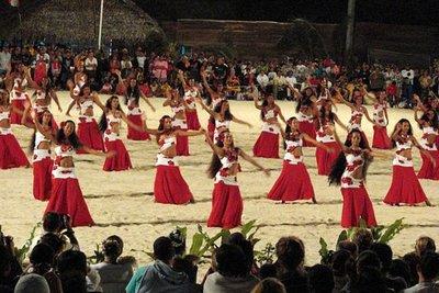 Polynesian Dancers, Bora Bora