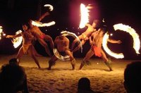 Fire dancers, Bora Bora
