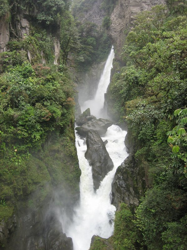 Waterfall in Baños