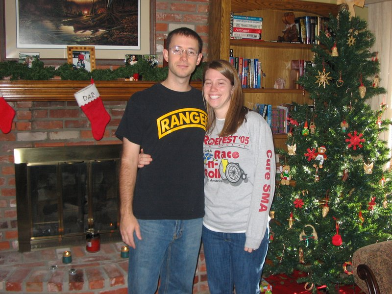 Ann and Justin at Christmas in KC