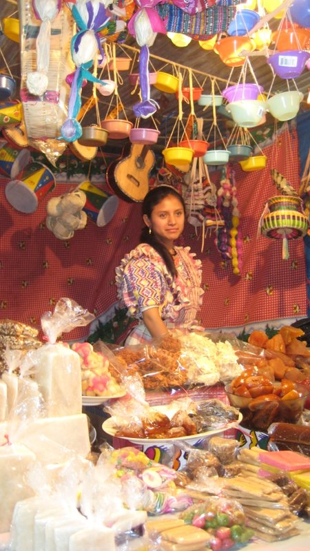 Pretty Local Girl at Fair in Xela