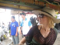 Arriving on Gili T and catching a horse cart to the cabin