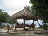Beach pavillion on Gili T