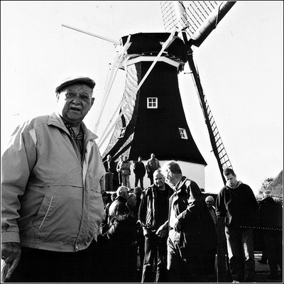 Old man and Windmill