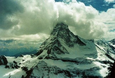 Switzerland1991 - Valais - Matterhorn by helicopter