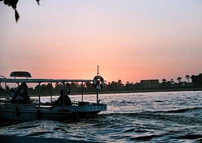 FerryBoat @ Sunset on the Nile