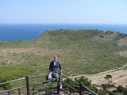 At Seongsan crater