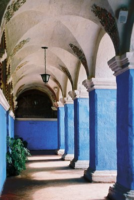 Arched Walkway in Santa Catlina Monastery, Araquipa, Peru